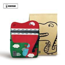 韩国杯具熊幼儿园书包 双肩 3-6岁 红色恐龙