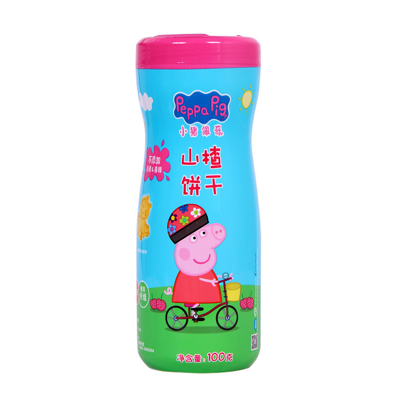 中国小猪佩奇(Peppa Pig) 卡通饼干100g 山楂饼干