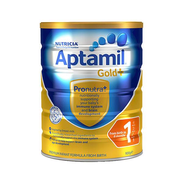 【澳洲直邮】澳洲爱他美Aptamil金装1段 0-6个月婴幼儿奶粉900g 6罐
