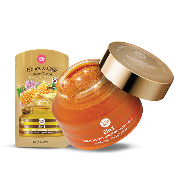 泰国Cathy Doll蜗牛黄金蜂蜜免洗睡眠面膜 70g