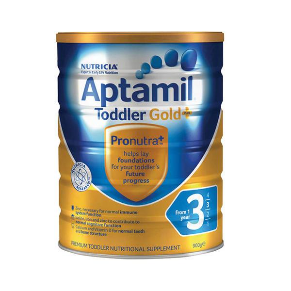 【2罐装】澳洲爱他美Aptamil爱他美金装3段 1-2周岁婴幼儿奶粉900g*2罐