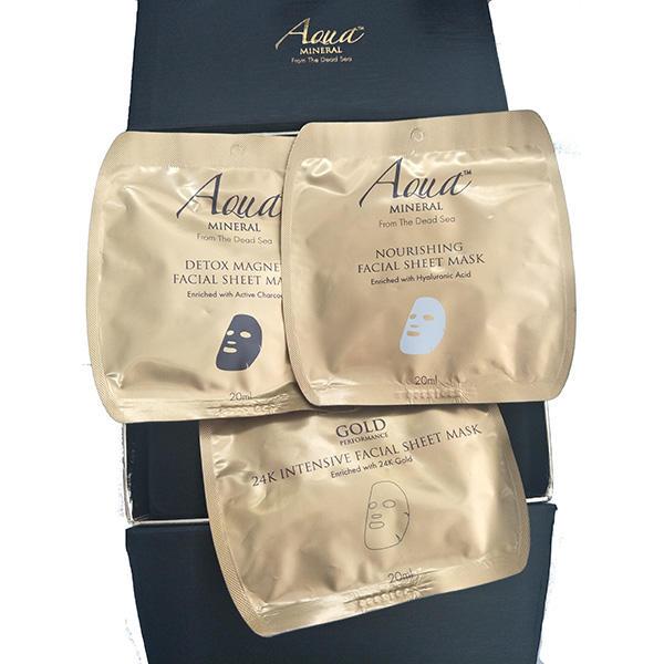 以色列Aqua奢华面部护理片状面膜6片