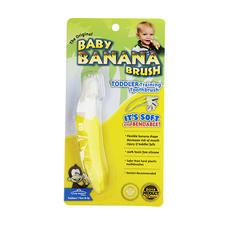 美国Baby Banana香蕉宝宝硅胶幼儿训练牙刷1个