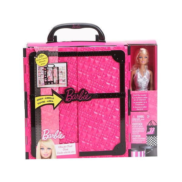 美国美泰芭比x4833梦幻衣橱带娃娃1套