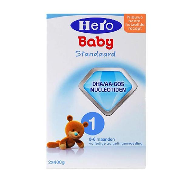 【2罐装】荷兰原装Hero Baby1段 0-6个月宝宝奶粉800g*2盒