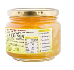 韩福10.2蜂蜜柠檬柚子蜂蜜柚子茶580g 柠檬柚子