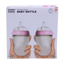 美国Comotomo可么多么奶瓶宽口250ml粉色双个装