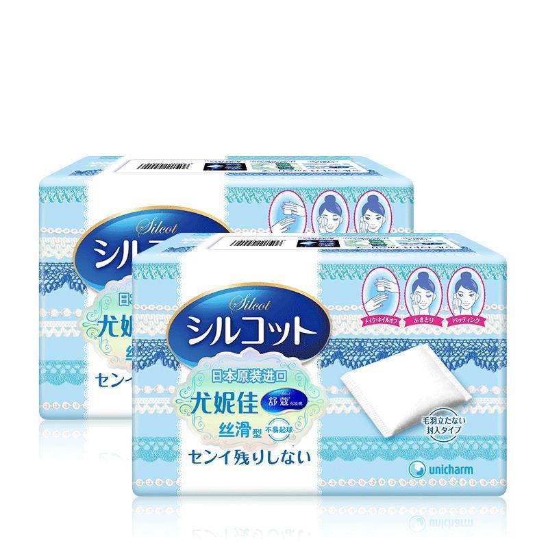 日本 尤妮佳化妆棉82枚*2