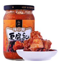 中国台湾 台宴辣豆瓣豆腐乳 调料调味品 火锅蘸料 下饭菜 380g 辣豆瓣
