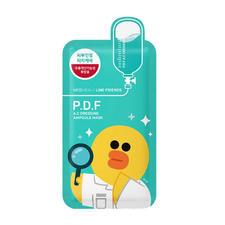 韩国可莱丝PDF舒缓面膜卡通限量line版动物面膜绿色10片/盒