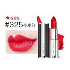 法国GIVENCHY 纪梵希 高级定制小羊皮唇膏 口红 #325号魅力红色