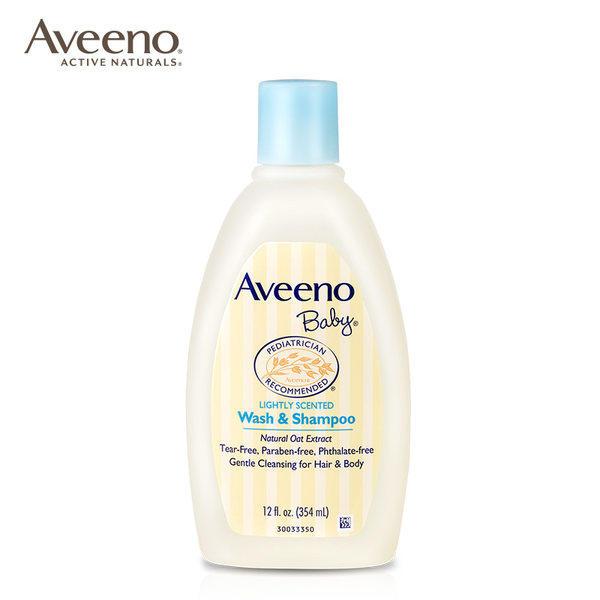 美国Aveeno婴儿燕无泪2合1洗发沐浴露354ml
