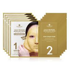 韩国SHANGPREE 香蒲丽 黄金水光面膜 50克+4.5克/片 5片装