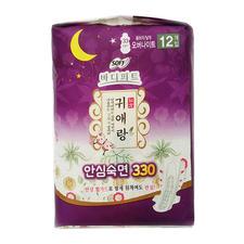 韩国LG贵爱娘夜用卫生巾33cm12片