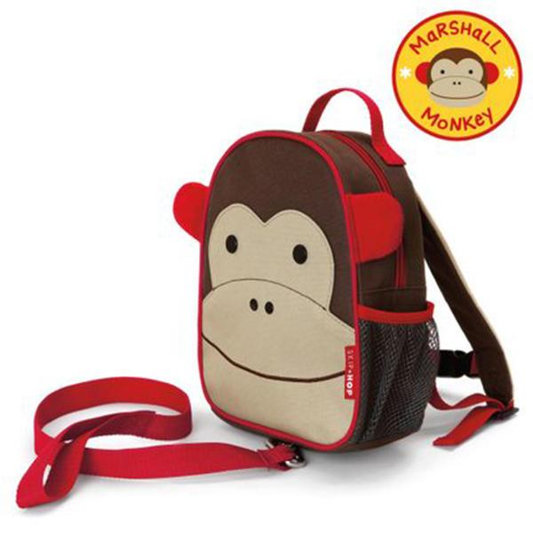 美国Skip Hop儿童防走失背包书包1-3岁 猴子