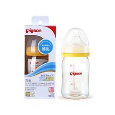 日本贝亲 宝宝宽口径耐热塑料奶瓶160ml【橙色】