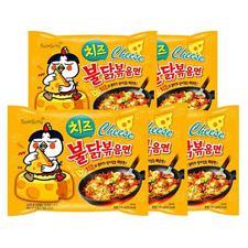 韩国三养芝士火鸡面鸡肉味芝士拌面五连包700g