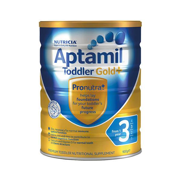 【澳洲直邮】澳洲爱他美Aptamil金装3段1-2周岁婴幼儿奶粉900g 3罐