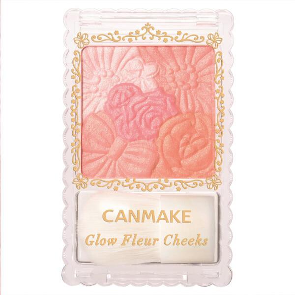日本井田CANMAKE 五色花瓣雕刻腮红 #03 珠光橙色芙蓉