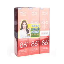 韩国median麦迪安86牙膏红色120g*3支