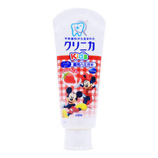 日本狮王Disney米奇儿童可吞咽防龋齿牙膏  草莓味60g