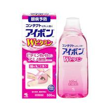 日本小林制药洗眼液眼部护理液500ml 3-4度【粉红色】