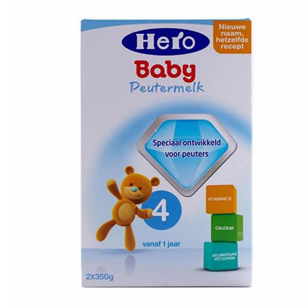 【2罐装】荷兰原装Hero Baby4段 1-2周岁宝宝奶粉700g*2盒