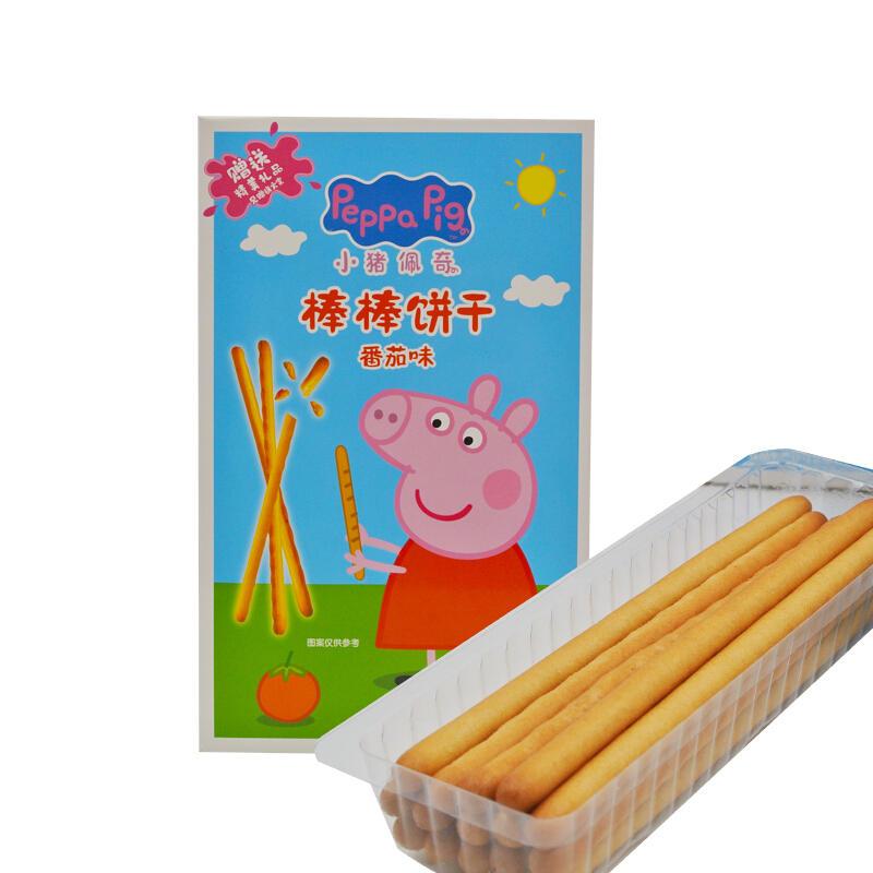 中国小猪佩奇棒棒饼48g 番茄味