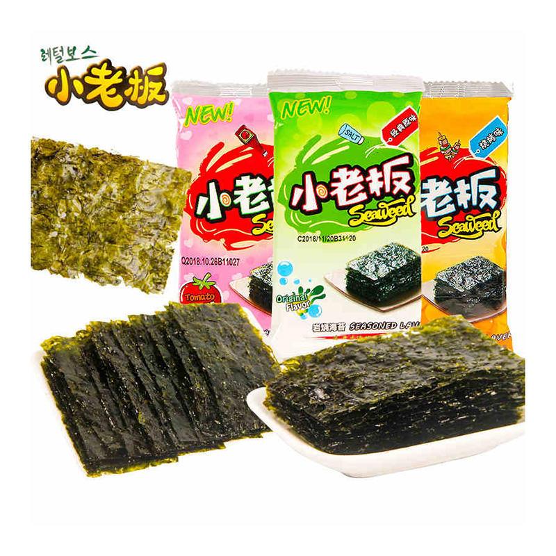 中国香港  小老板  延烧海苔16g 橄榄油