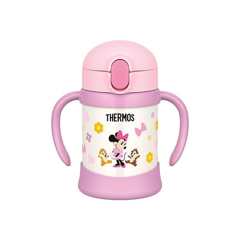 日本膳魔师 双耳吸管杯 粉色米妮250ml