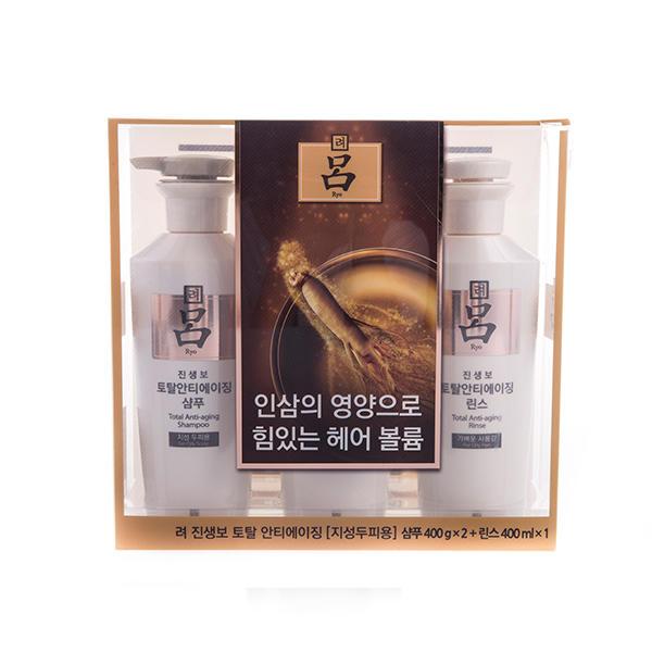韩国 爱茉莉 白吕洗发水护发素3件套装