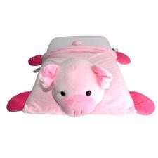 泰国ecolifelatex 天然乳胶  儿童 卡通 乳胶枕 粉色-可爱猪
