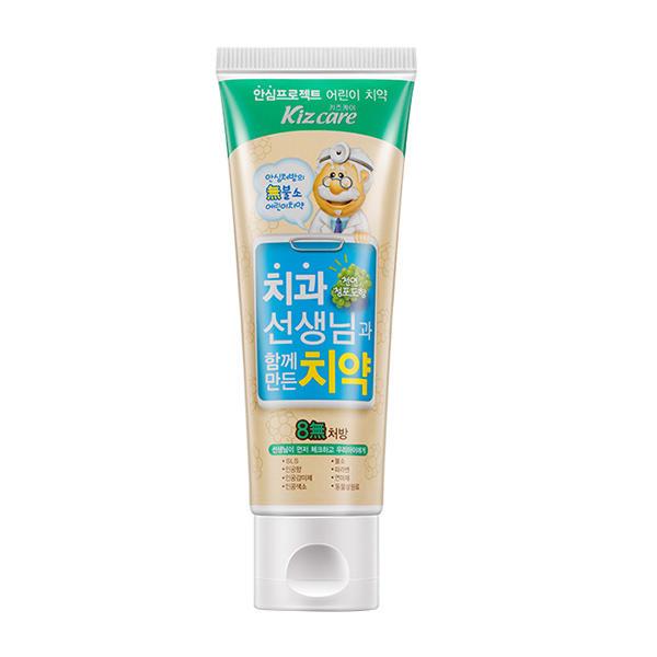 韩国芜琼花8无儿童牙膏(葡萄味)80G