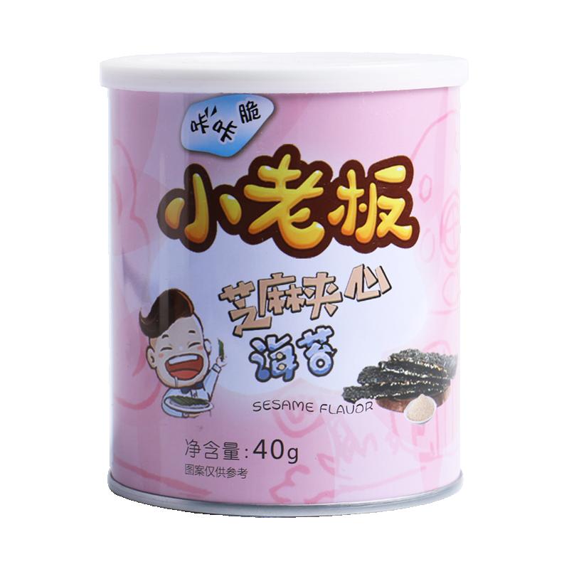 中国  小老板 海苔 40g 芝麻夹心