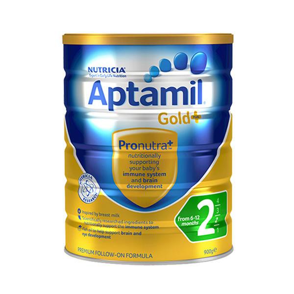 【2罐装】澳洲爱他美Aptamil爱他美金装2段  6-12个月婴幼儿奶粉900g*2罐