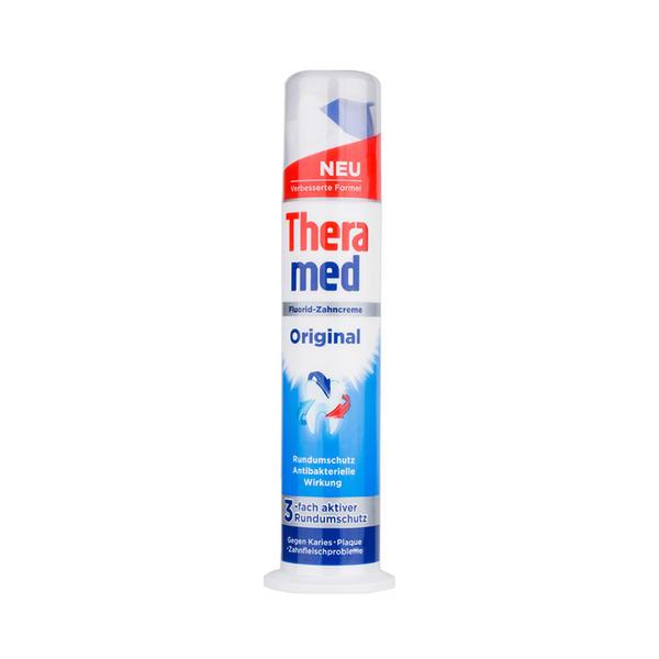 德国Theramed汉高泰瑞美按压式成人牙膏100ml 蓝色(防蛀固齿)