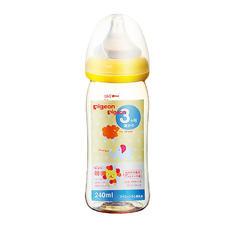 日本 贝亲 贝亲母乳实感塑料奶瓶160ml黄色狮子
