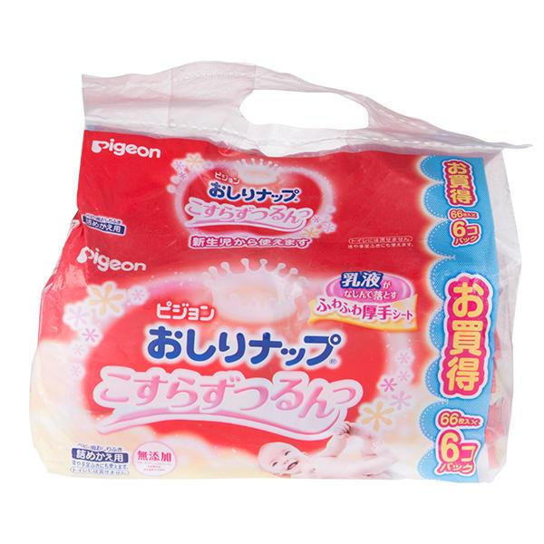日本贝亲婴儿湿巾乳液型66枚*6包