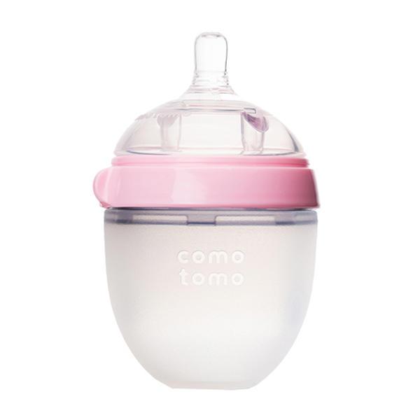 【清仓特惠】美国Comotomo可么多么奶瓶宽口150ml粉色双个装【2021.05.01到期】