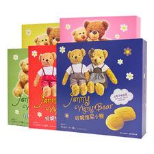 中国珍妮维尼小熊曲奇128g 奶酪芝士味