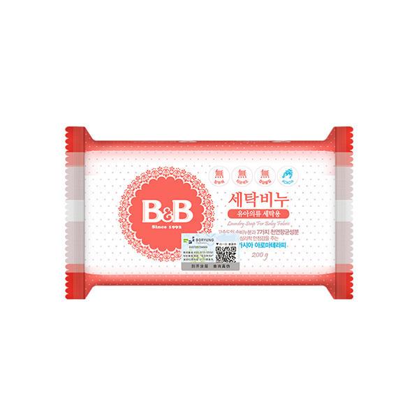 韩国保宁B&B洗衣香皂200g 洋槐皂 洋槐皂