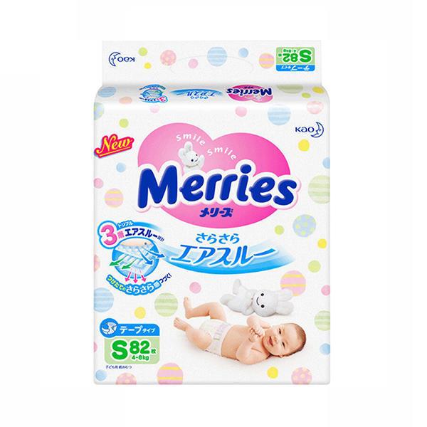 日本花王纸尿裤尿不湿S82 (4-8kg)1包