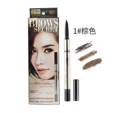 泰国mistine 3D立体眉笔眉粉染眉膏三合一 1#深棕色