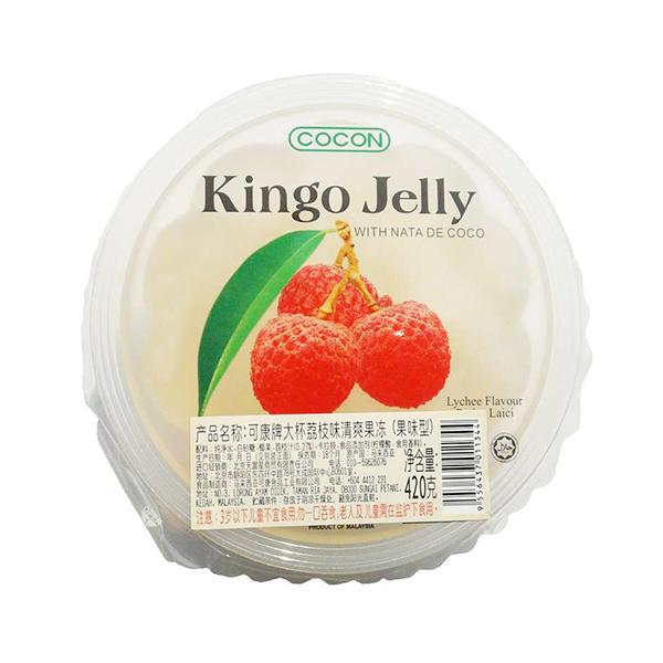 马来西亚可康牌大杯荔枝味清爽果冻果味型420g
