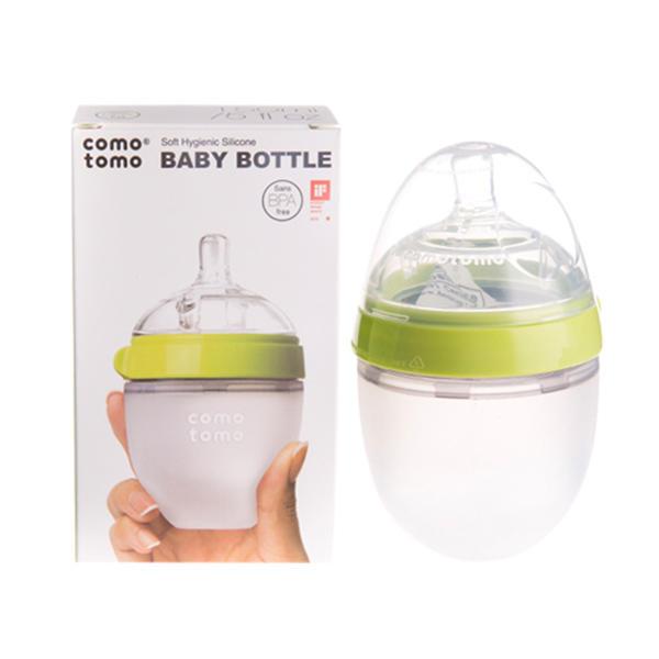 【清仓特惠】美国Comotomo可么多么奶瓶宽口150ml绿色双个装【2021.05.01到期】