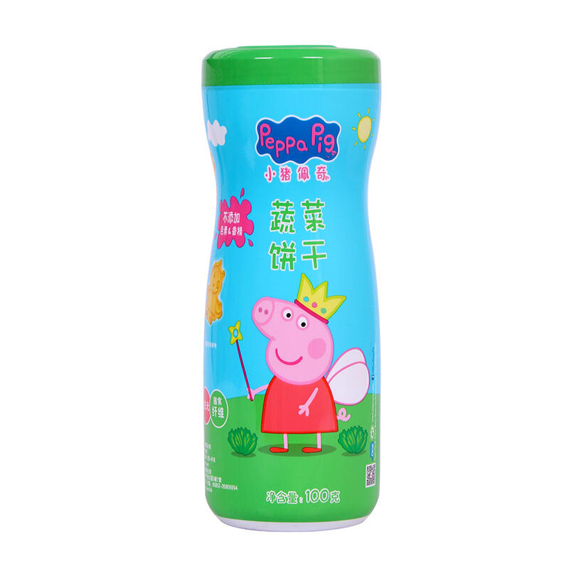 中国小猪佩奇(Peppa Pig) 卡通饼干100g 蔬菜饼干