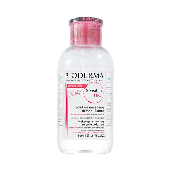 法国Bioderma贝德玛卸妆水舒妍洁肤液S版粉水500ML