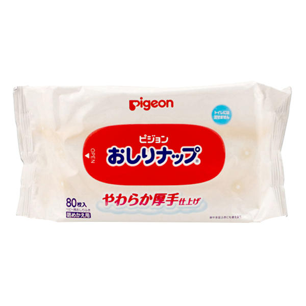 日本贝亲婴儿宝宝湿巾80枚*6