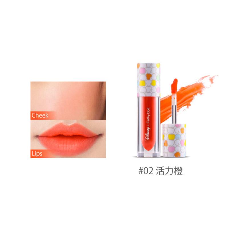 泰国Cathy Doll 迪斯尼联名系列二合一唇彩腮红2.4g #02 探戈橙
