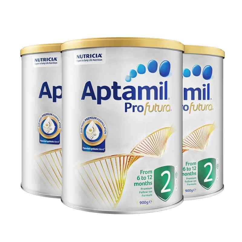 【2罐装】澳洲爱他美白金版婴儿配方奶粉2段900g*2罐(新老包装随机发货)